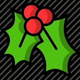 christmas, kiss, mistletoe icon