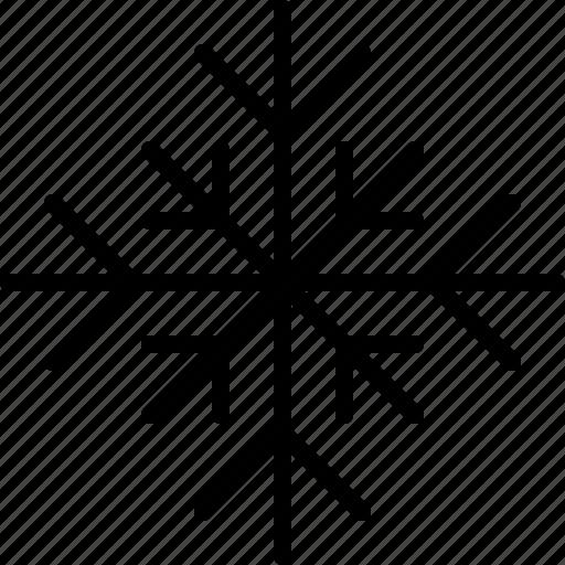 christmas, cold, flake, snow, snowflake, winter icon