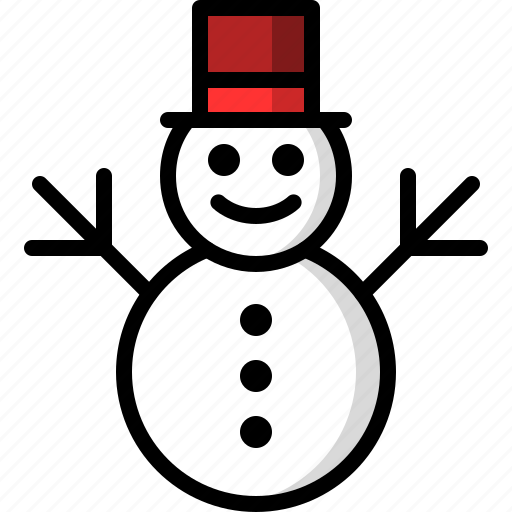 christmas, cold, man, snow, snowman, winter icon