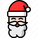 beard, christmas, claus, man, santa, santa claus icon