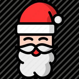 beard, christmas, claus, man, santa, santa claus icon