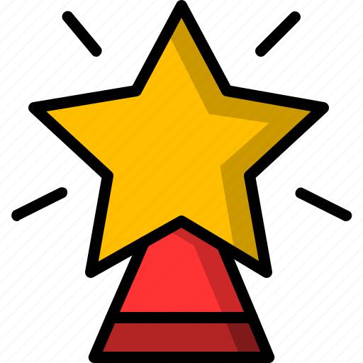 christmas, shine, shinning, star, tree icon
