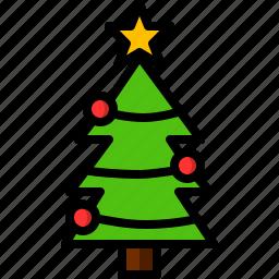 ball, christmas, pine, tree icon