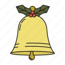 bell, christmas, holiday, winter icon