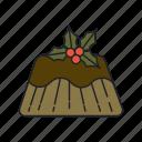 cake, chocolet, christmas, dessert, dinner, sweet icon