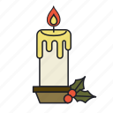 candle, christmas, festival, holiday, holy, light icon