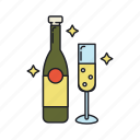 alcohol, champaign, drink, party icon