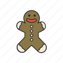 bread, christmas, cookie, food, ginger, sweet, traditional icon