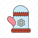 accessory, glove, snowflake, winter