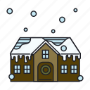 house, snow, winter icon