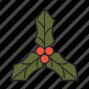 christmas, decoration, festival, leaf, winter icon