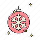 decoration, ornament, snowflake icon