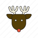 animal, christmas, deer, rein icon