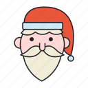 christmas, hodiday, santa claus icon