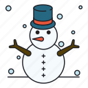 outdoor, snowman, winter icon
