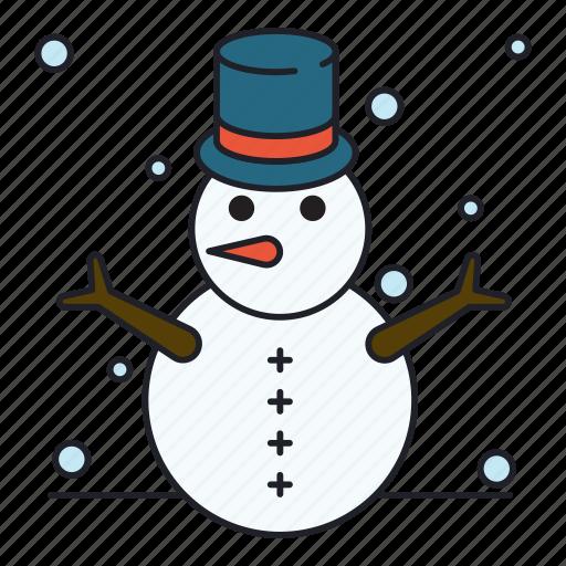 outdoor, snowman, winter icon
