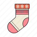 accessory, sock, winter icon