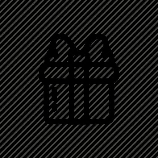 box, christmas, gift, line icon