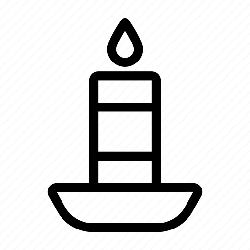 Candle, decoration, flame, light icon - Download on Iconfinder