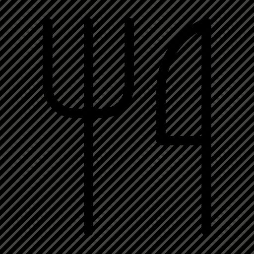 fork, knife, spoon, utensils icon