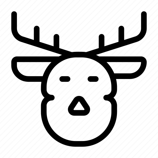 animal, christmas, reindeer icon