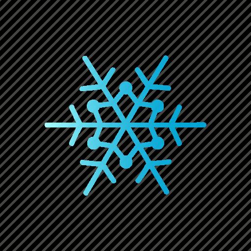 blue, christmas, gradient, line, winter icon