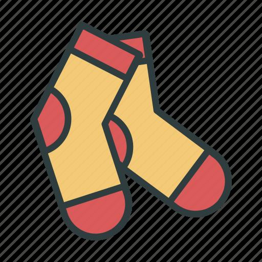 christmas, new year, socks icon