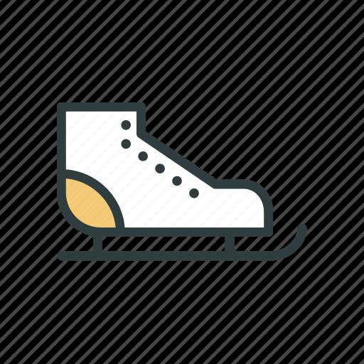 christmas, ice skates, ice-skates, new year, roller-skates, skate, skates icon