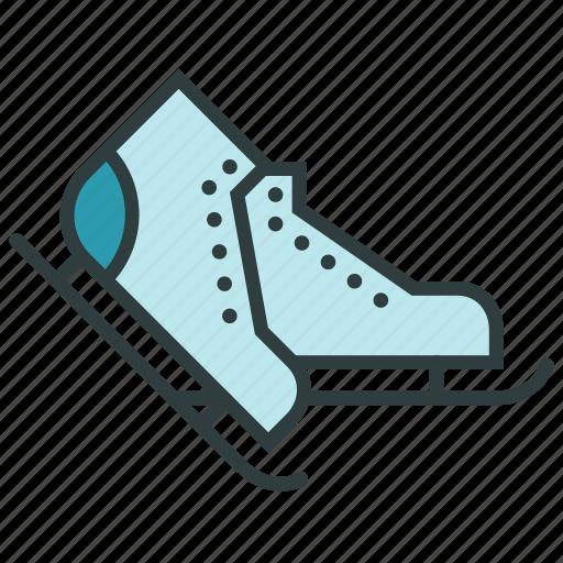 christmas, ice skates, ice-skates, new year, racing skates, skate, skates icon
