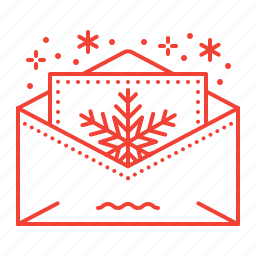 christmas, invitation, letter, santa icon