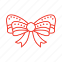 bow, christmas, decoration icon