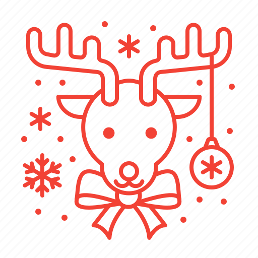 christmas, deer, rudolf icon
