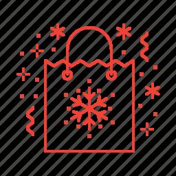 bag, christmas, gifts, presents icon