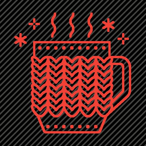 cup, hot, tea, winter icon