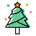 christmas decoration, christmas tree, fir, holiday, merry christmas, winter, xmas icon
