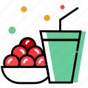 beverage, celebration, christmas decoration, dessert, juice, sweet icon