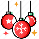 bauble, christmas decoration, merry christmas, new year, xmas icon