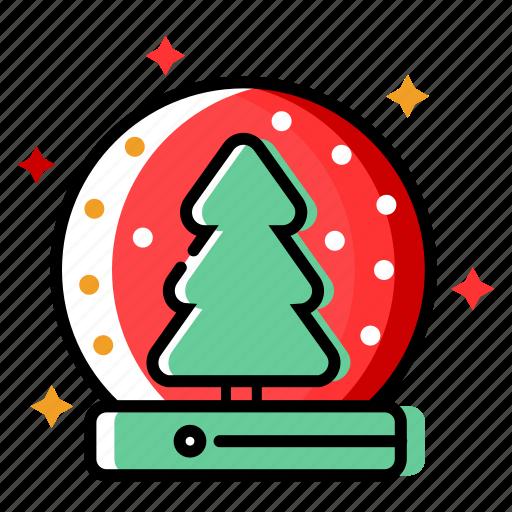 christmas decoration, christmas tree, fir, holiday, merry christmas, snowfall, winter, xmas icon