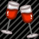 champagne, drink, food, glass, restaurant, wine icon