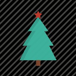 celebration, christmas, star, tree icon