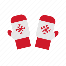 christmas, cold, gloves icon