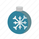 ball, christmas, decoration, snowflake, xmas icon