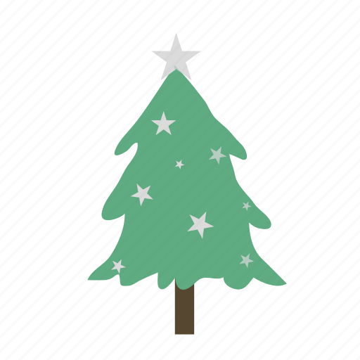 christmas, christmas tree, decoration, lighted icon
