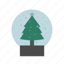 christmas, decoration, landscape icon