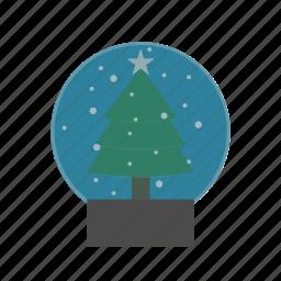 christmas, decoration, landscape icon