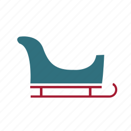 christmas, decoration, holiday, sleigh icon