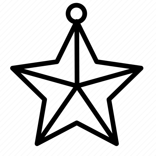 christmas, holiday, ornament, snow, star, winter icon