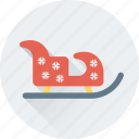 christmas, sled, sledge, sleigh, xmas icon