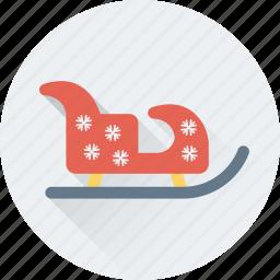 christmas, sled, sledge, sleigh, xmas icon