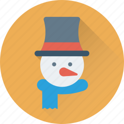 christmas, snowman, snowperson, winter, xmas icon